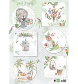 Marianne Design A4 Knipvel - Tropical Dreams  EWK1260