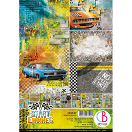 Ciao Bella - Start your Engines - Dubbelzijdig Creative Pad - A4 - CBCL031