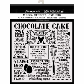 Stamperia Thick Stencil - 18x18cm - Chocolate cake
