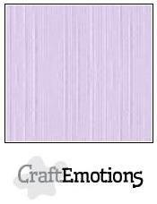 CraftEmotions linnenkarton 10 vel  Lavendel pastel  30,5x30,5cm