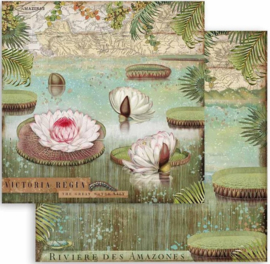 Stamperia - Amazonia - Water Lily - Paper - 30.5 x 30.5 cm
