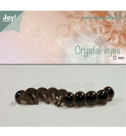 Joy!Crafts Crystal-eyes 12 mm Bruin