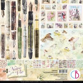 Ciao Bella - Notre Vie - Dubbelzijdige patronen pad 30,5 cm x 30,5 cm. - CBT045