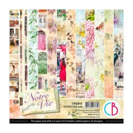 Ciao Bella - Notre Vie - Dubbelzijdig Paper pad 15 cm x 15 cm.. - CBQ045