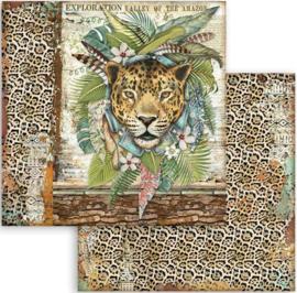 Stamperia -  Amazonia - Jaguar - Paper - 30.5 x 30.5 cm