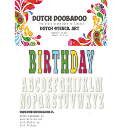 Dutch Doobadoo  Stencil Art  Alphabet - 470.990.113