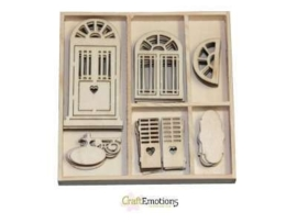 Houten Ornamenten  Romantic Provence Door and Window 81500/0192