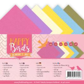 Linnenpakket - 4K - Jeanines Art - Happy Birds