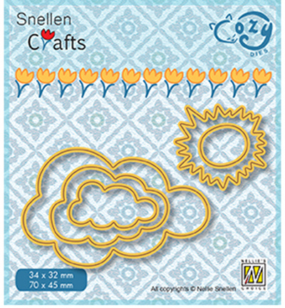 Nellie Crafts Cozy Dies - Sun & clouds - SCCOD018