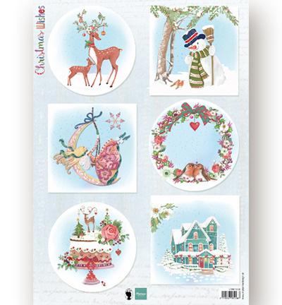 Marianne Knipvel A4 -Christmas Wishes deer -EWK1280