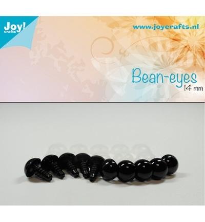 Joy!Crafts Bean-eyes 14 mm Zwart