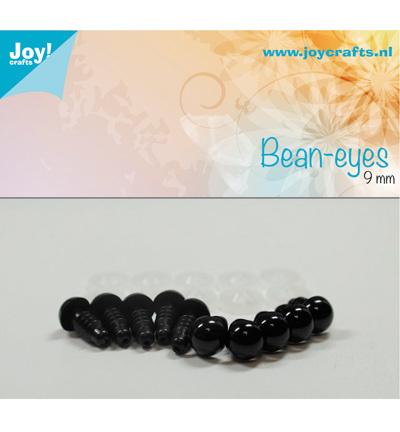 Joy!Crafts Bean-eyes 9 mm Zwart