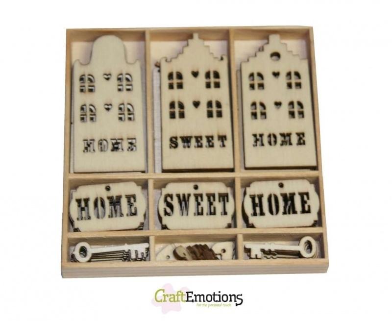 Houten Ornamenten Home Sweet Home 811500/0215