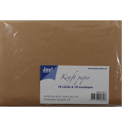 Kraft Papier 10 cards & 10 envelopes 8001/0011