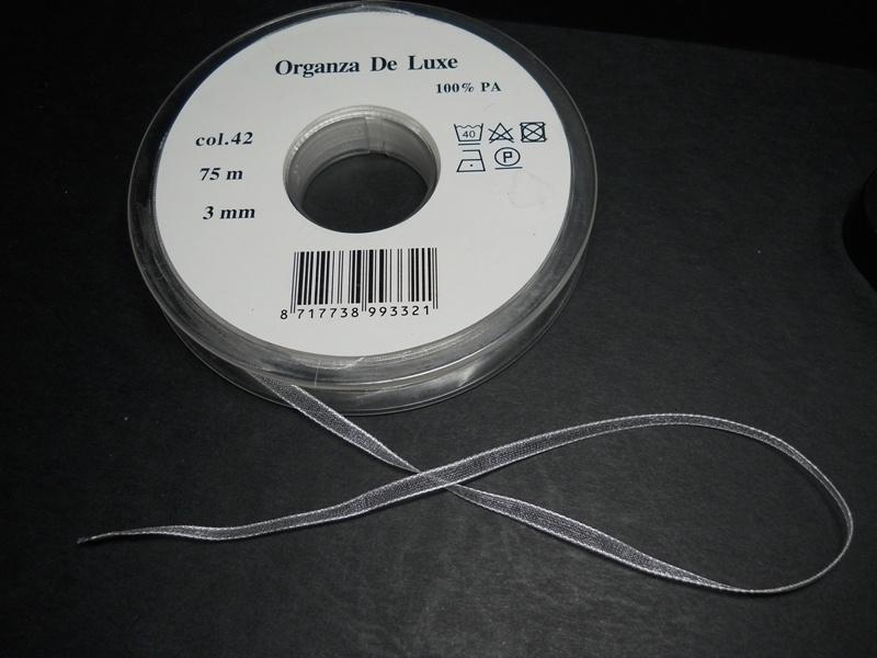Organza Lint de Luxe 3mm Champagne kleur