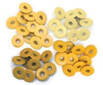 We R Memory Keepers  Yellow Crop-A-Dile Wide Eyelet 40pcs