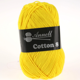 Cotton 8 - 15 geel