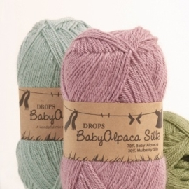BabyAlpaca Silk Uni 1760 lichtgrijs/paars