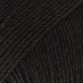 Cotton Merino Uni 02 zwart