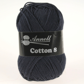 Cotton 8 - 26 navy/blauw