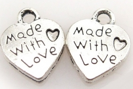 Bedeltje 'Made with love'