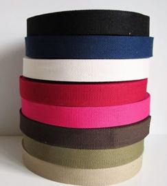 Keper tassenband - extra stevig - 38 mm - donkerblauw