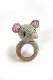 Haakpakket DIY - rammelaar muis