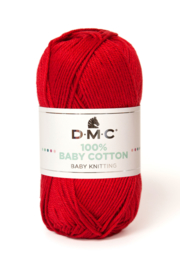 100% Baby Cotton 754 red