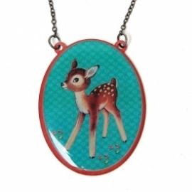 Halsketting vintage bambi