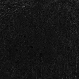 Brushed Alpaca Silk Uni 16 zwart