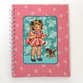 Notaboekje doll pink