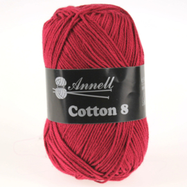 Cotton 8 - 10 donkerrood