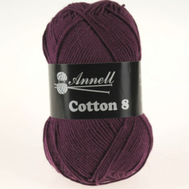 Cotton 8 - 50 paars/aubergine