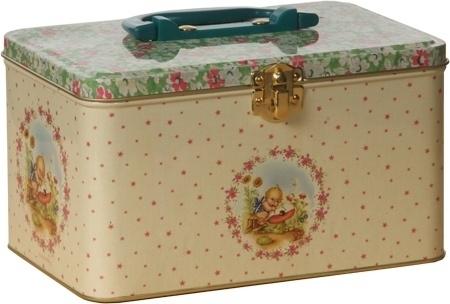 Blikken koffertje baby pink