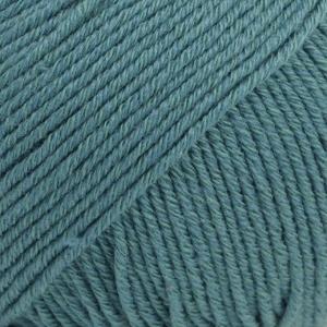 Cotton Merino Uni 26 storm blauw