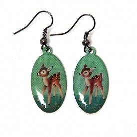 Bambi vintage oorhangers