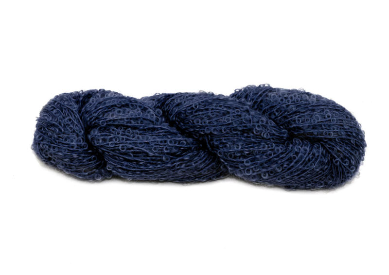 Mohair Bouclé - 1018 donkerblauw