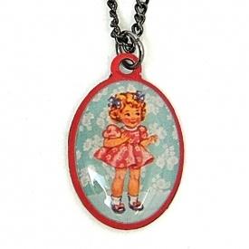 Halsketting vintage doll klein