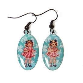 Pretty doll oorhangers