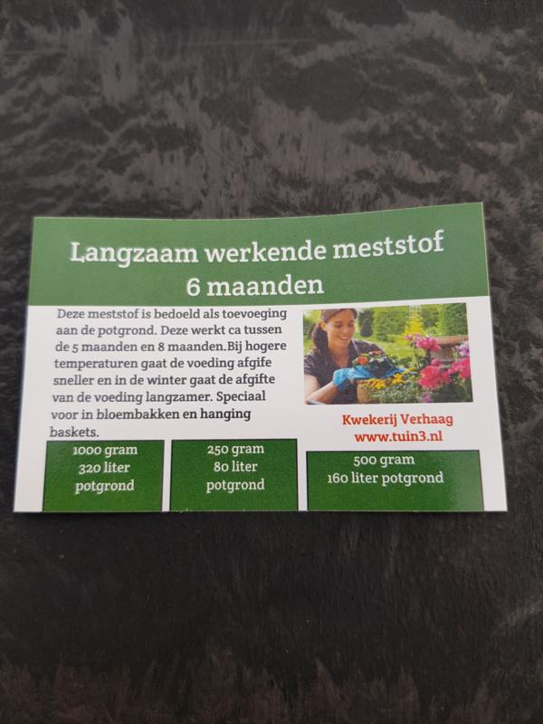 Langzaam werkende meststof 6 maanden 500 gram eigen merk