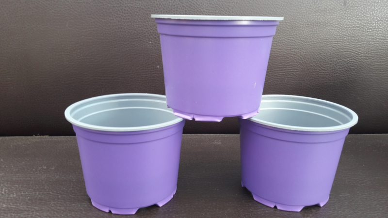 12cm bloempotten paars/lavendel