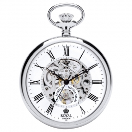 Royal London Skelet Zakhorloge Open Heart Staal 50 mm
