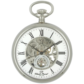 Claude Pascal Open Heart Skelet Zakhorloge Staal 50 mm