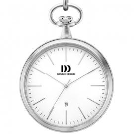 Danish Design Stalen Zakhorloge Datum Wit 47mm - IQ12Q1076