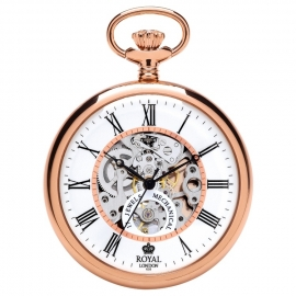 Royal London Skelet Zakhorloge Open Heart Rosé 50 mm