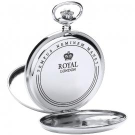 Royal London Dubbele Savonet Staal 53 mm Quartz