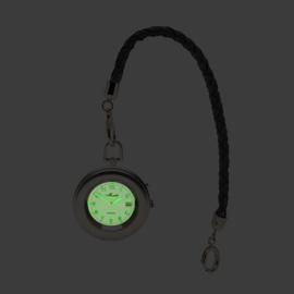 Monté Zakhorloge met Wijzerplaatverlichting aan Lederen Ketting 42 mm