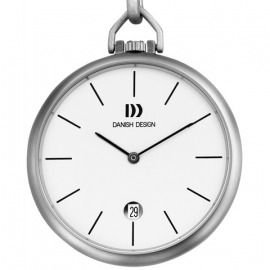 Danish Design Ultra Plat Zakhorloge Wit 41mm Quartz