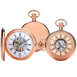 Royal London Skelet Half Hunter Rose Goud 50mm
