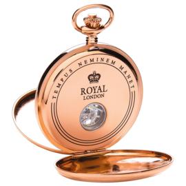Royal London Dubbele Savonet Rosegoud 53mm Mechanisch